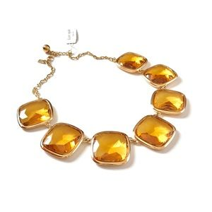 Kate Spade Statement Amber Yellow Crystal Necklace